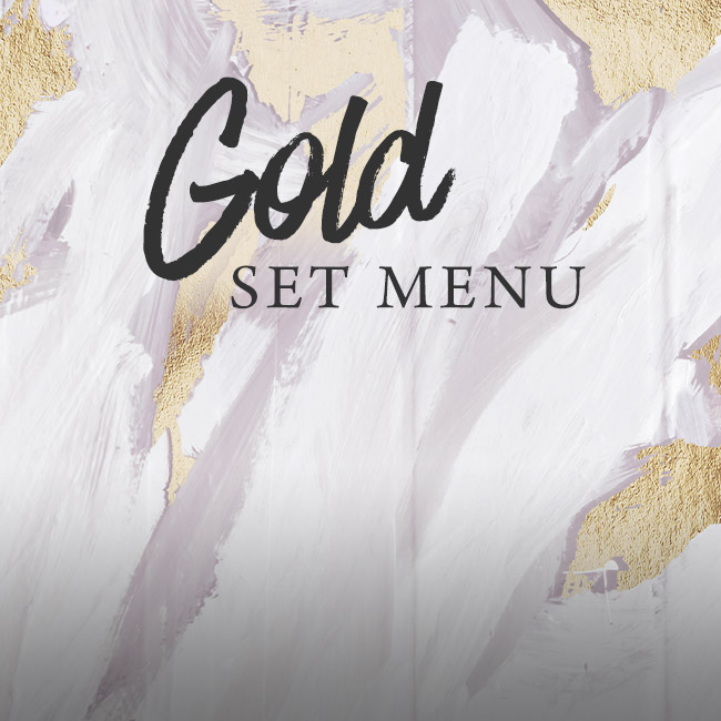 Gold set menu at The Red Lion